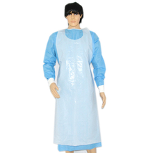 White disposable medical polyethylene aprons