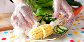 Use correct gloves for food processing