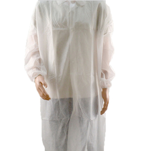 White waterproof disposable non woven barrier isolation gown