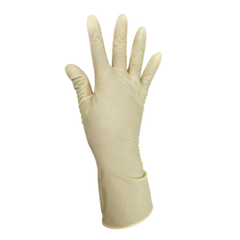 Yellow sterile powder free latex surgical gloves