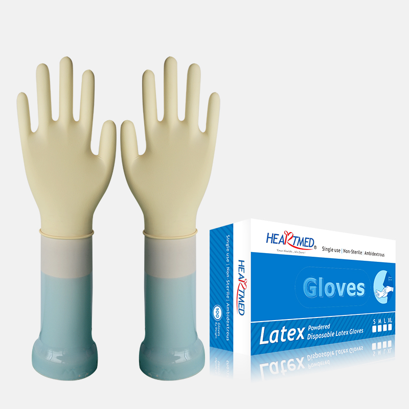 Food Grade Disposable Powdered Latex Gloves From China