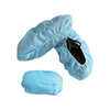 Heavy duty anti skid disposable blue non woven shoe covers