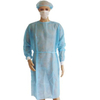Blue disposable non woven medical isolation gown with cuff