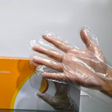 Universal safe clear polyethylene disposable gloves for food