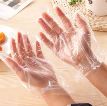 High density polyethylene disposable food handling gloves