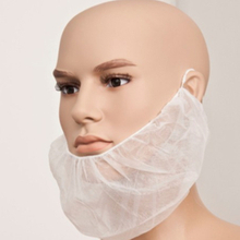 Non woven disposable white surgical beard nets