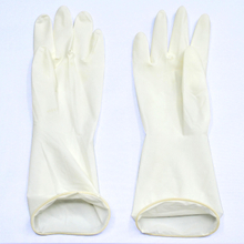 Disposable sterile non powdered latex surgical gloves