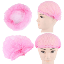 Pink disposable non woven cleanroom bouffant cap